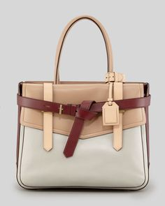 Boxer I Tote Bag, Almond/Auburn by Reed Krakoff at Neiman Marcus.