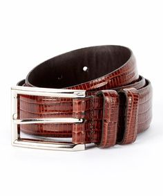 This Brown Morado Leather Belt by Remo Tulliani is perfect! #zulilyfinds