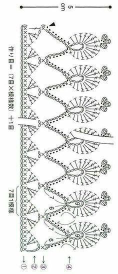 New crochet lace edging irish stitch patterns 29 ideas Crochet Edging Patterns, Crochet Lace Edging, Crochet Motifs, Crochet Borders, Crochet Diagram, Crochet Chart, Crochet Trim, Filet Crochet, Irish Crochet
