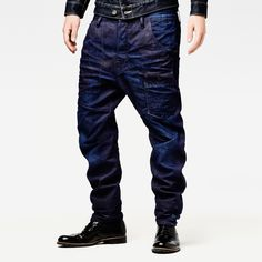 Alcatraz loose tapered - Men - Jeans - G-Star Drop Crotch Jeans, Dandy Style, Rugged Style, Sleeveless Jacket, Tapered Jeans, Denim Outfit, G Star Raw, Slim Jeans, Denim Fashion