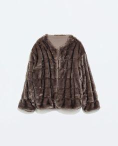PELSJAKKE fra Zara