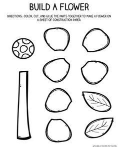 Plants: Parts of a Plant, Plant Needs, Life Cycle, & Plant Journal for Primary - Kindergarten Preschool Learning Activities, Preschool Science, Preschool Worksheets, April Preschool, Sequencing Activities, Art Activities, Plant Lessons, Science Lessons, Science Ideas