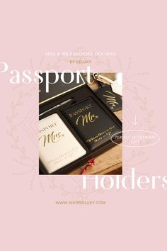 """Honeymooning couples get a lot of gifts. Make sure yours is one to remember with something that is guaranteed to stand out! This mr and mrs passport holder and luggage tags is something your couple-friends will actually want, not something that'll just sit in a cupboard gathering dust! The perfect bridal shower gift for bride, wedding gifts for bride and groom, Christmas gifts for couples who have everything, Mr and Mrs gifts, anniversary or """"just"""" because present. Bridal Shower Gifts For Bride, Wedding Gifts For Bride And Groom, Bridal Shower Favors, Christmas Gifts For Couples, Engagement Gifts For Couples, Best Honeymoon Destinations, Groomsman Gifts, Couple Gifts, Cupboard"""