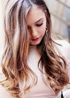Nina Dobrev. Her hair is so beautiful.
