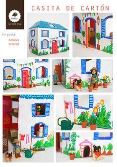 Milanesa: Una casita de cartón: tutorial
