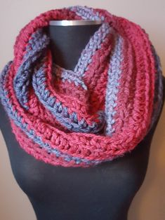 Windsor multicolored double stranded double crocheted scarf UdxiGFw