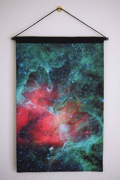 Galaxy wall hanging..... This would look great in sarah s room......