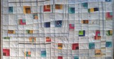 """It's done. My finished quilt measures 19.5"""" x 25"""". I quilted it mostly in the ditch. Marge can give you an idea of the size too. ..."""