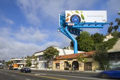 """The common billboard, reimagined by Los Angeles-based Lorcan O'Herlihy Architects. """"Conventional billboard structures are very banal,"""" he says. """"It's leftover infrastructure that people don't pay attention to."""""""
