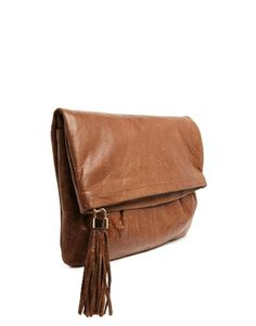Oasis Clove Leather Clutch Bag