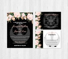 Star Wars Wedding Invitation Set Blush Pink Floral Sci-fi Geek Nerd Printable Digital File or Prints with Free Shipping Elegant Flower by SweetTeaAndACactus on Etsy https://www.etsy.com/listing/465433728/star-wars-wedding-invitation-set-blush