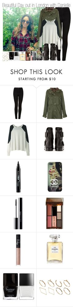 """Beautiful Day in London with Danielle"" by elise-22 ❤ liked on Polyvore featuring Topshop, Étoile Isabel Marant, Pierre Hardy, NYX, shu uemura, Bobbi Brown Cosmetics, NARS Cosmetics, Chanel, Butter London and ASOS"