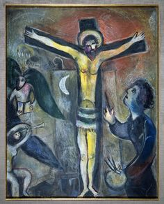 chagall jewish museum | Marc Chagall, Christ and the Artist, 1951, gouache and pastel on paper ..