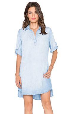 Bella Dahl A-Line Shirt Dress in Light Mist Wash