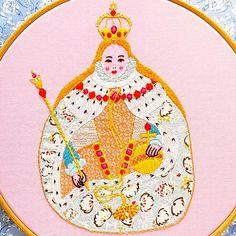 Gloriana Elizabeth I Embroidery Pattern PDF