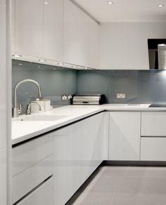 JGA Design - House Refurbishment in Barnes, London - Minimal white kitchen #interiors #interiordesign #homedecor #architecture #refurbishment #london #kitchen #minimaldecor