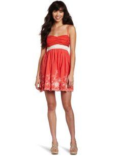 Trixxi Juniors Voile Border Dress - List price: $62.99 Price: $9.45 Saving: $53.54 (85%) + Free Shipping