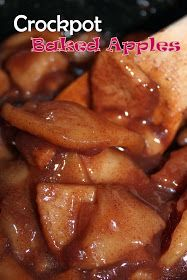 Yummy Crockpot Baked Apples. Serve over pancakes or waffles, in Oatmeal or even over Vanilla ice cream!