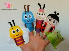 Felt Puppets, Puppets For Kids, Felt Finger Puppets, Crafts To Do, Felt Crafts, Finger Puppet Patterns, Felt Quiet Books, Felt Patterns, Easy Sewing Projects
