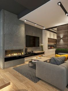 Cool And Contemporary living room tv unit modern design made easy Living Room Tv, Living Room Interior, Cozy Living, Small Living, Nordic Living, Living Room Modern, Living Room Decor Frames, Luxury Living Rooms, Art Of Living