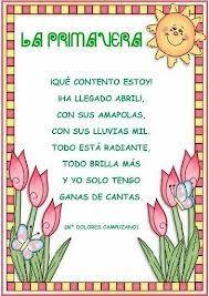Todopreescolar: Primavera Preschool Spanish, Elementary Spanish, Learning Spanish, Elementary Schools, Poetry Anchor Chart, Anchor Charts, Poetry Unit, Spanish Songs, Spanish Immersion