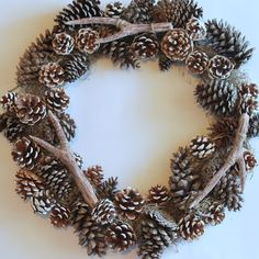 How to make antlers...faux antler wreath from the pottery barn