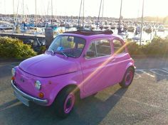 pretty in pink #fiat #classiccars