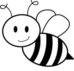 This is best Bee Clipart Black and White Free Bee Images Clipartbold for your project or presentation to use for personal or commersial. Bee Template, Templates Printable Free, Bee Outline, Bees For Kids, Bee Coloring Pages, Bee Drawing, Bee Images, Cute Bee, Clip Art