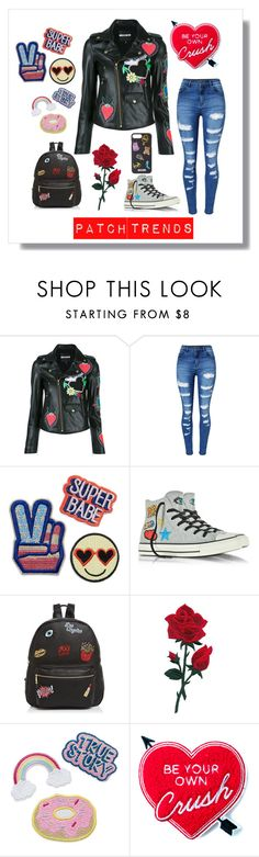 """""""Patch Trends 2017"""" by neesyrn ❤ liked on Polyvore featuring House of Holland, WithChic, Converse, Ollie & B, Yvng Pearl and Moschino"""