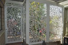 Rainforest Vines fixed security panels and gate  No gap in this suite is larger than 50mm for security