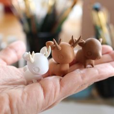 thelittlemew: Hi everyone! I took a week off to focus on designing new little animal figures (wip jackrabbit, deer & baby boar) and get some of the ideas I have in my head onto paper!