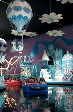 """""""it's a small world,"""" a gentle boat ride that's fun for little ones as well as Guests of all ages, is in the Fantasyland area in Magic Kingdom theme park."""