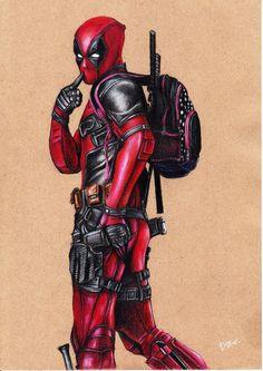 #Deadpool #Fan #Art. (Deadpool Movie Fan art poster) By: Tontentotza. ÅWESOMENESS!!!™ ÅÅÅ+