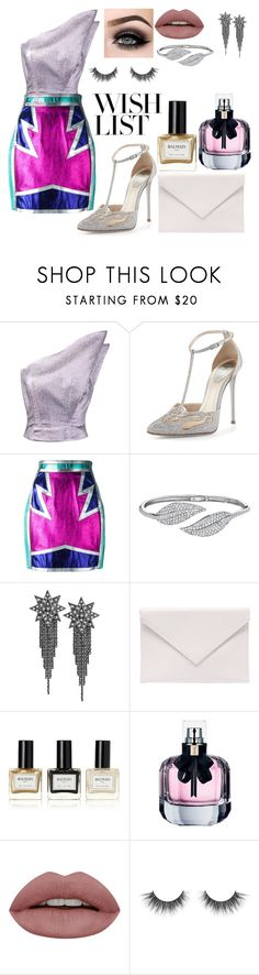 """Untitled #80"" by giulia-morandi ❤ liked on Polyvore featuring Vika Gazinskaya, René Caovilla, Dsquared2, Penny Preville, Ana De Costa, Verali, Balmain, Yves Saint Laurent and ASAP"