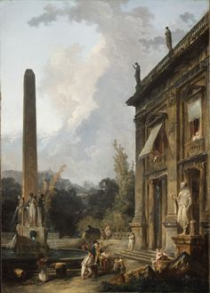 Wandering Minstrels    Hubert Robert (French, Paris 1733–1808 Paris)