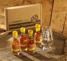 """Whiskey Explorers Club """"Scout"""" Package   Gift Dad a Whiskey Explorer Subscription Club club.forwhiskeylovers.com   Includes: (1) 4 Whiskey Flights delivered every quarter (2) #Glencairn Nosing Glass (3) Discounted Whiskey Event Tickets (4) $15 Gift Card to Shop our Store #FathersDayGiftIdea"""