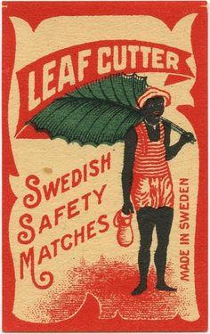 Leaf Cutter Safety Matches ~ Sweden