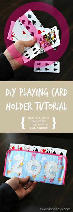 Little hands having trouble keeping their cards in order? Whip up a DIY Playing Card Holder for Kids with this free tutorial! Magnets hold cards in place so they don't fall out but are still easy to pull out or rearrange. Swoodsonsays.com