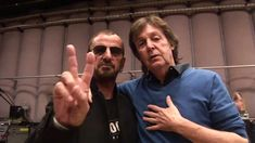 Ringo Starr and Paul McCartney Rehearse for Grammy Appearance 2014--Published on Feb 18, 2014  Ringo Starr is presented with the life time Peace and Love Award. He also discusses his first visit to New York as a Beatle 50 years earlier. He meets up with his mate Paul McCartney and together they rehearse for the Grammy Awards Show.Together they play Hey Jude for the first time since 1968.
