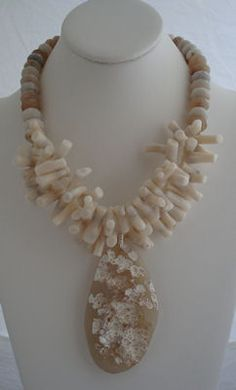 Opals and White Coral. SOLD