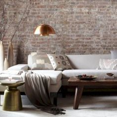 Stunning Brick Walls Ideas For A Living Room 24