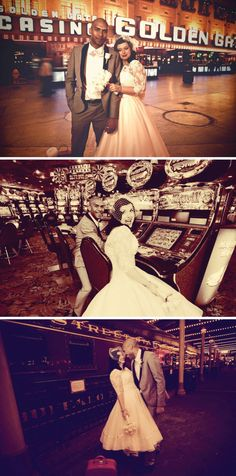 A 50's Retro Las Vegas Wedding on Bride Bubble real weddings. Rockabilly, vintage.