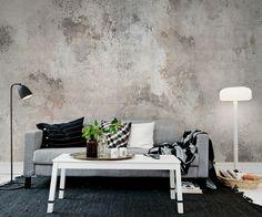 Wand in Beton-Look mit attraktiven Gebrauchsspuren