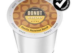 Authentic Donut Shop Blend Decaf Vanilla Hazelnut Medium Roast K Cups 24ct