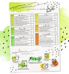 Wyzwanie wiosenne: porządek w 18 dni — grafika do druku