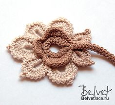 Ravelry: Flower from Bolero Cappuccino ENG by Victoria Belvet