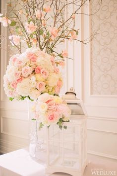 WedLuxe– A Pretty Pink and White Wedding | Photography by: artiese studios Follow @WedLuxe for more wedding inspiration!