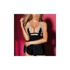 Women Sexy Lace Soft Silk-Like Nightdress Deep V Temptation Sleepwear ($17) ❤ liked on Polyvore featuring intimates, sleepwear, nightgowns, pink, sleepwear & robes, yellow, pink nightgown, sexy nightie, silk nightie and silk nightdress
