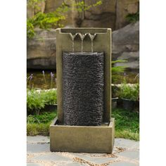 Stone Wall Indoor/ Outdoor Water Fountain - Overstock™ Shopping - Great Deals on Jeco Outdoor Fountains
