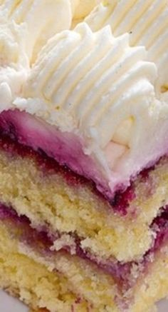 Simple Jam Layer Cake with Vanilla Buttercream Frosting